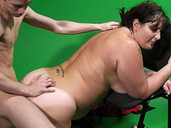 Large tanned cutie uses her BBW charm to get nailed by a married dude