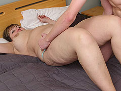 The young guy is supposed to help the BBW and he fucks her pussy hard to make her better