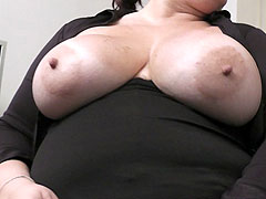 Hot fattie wearing her best lingerie offers her body to her boss for a bonus