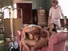 Busty chubby moms and man in orgy
