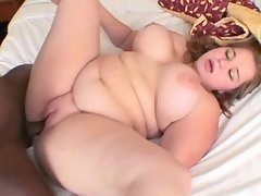 Naughty fat girl likes black cock