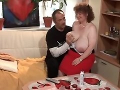 Lustful chubby granny seduces man