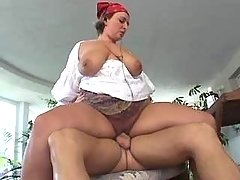Nice milf BBW fucks and gets facial